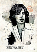 Jagger Mixed Media - Young Jagger by Juan Antonio Valverde