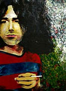 Famous Musicians Painting Originals - Young Jerry Having a Drag by Kevin J Cooper Artwork