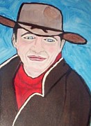 John Wayne Mixed Media - Young John Wayne by Teca Burq-Art