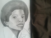 Michael Drawings Framed Prints - Young King Of Pop Framed Print by Hakeem Naseer