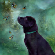 Retriever Mixed Media Posters - Young Lab And Buttys Poster by Carol Cavalaris