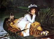 Conversation Piece Prints - Young Lady in a Boat Print by Pg Reproductions