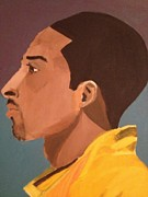 Kobe Painting Prints - Young Mamba Print by Brandon King