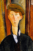 Young Man With Cap Print by Amedeo Modigliani