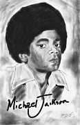 Kenal Louis Metal Prints - Young Michael Jackson Metal Print by Kenal Louis