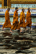 Buddhist Monk Photos - Young Monks by Rob Tullis