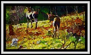 Clearing Mixed Media - Young Moose in Autumn by Barbara Griffin