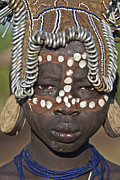 Sandy Schepis - Young Mursi Girl of...
