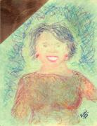 Barack Obama Painting Prints - Young Oprah at the Opera 1 pop natural Print by Richard W Linford