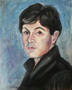 Celebrity Portraits Painting Originals - Young  Paul McCartney by Melinda Saminski