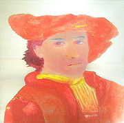 Nightwatch Posters - Young Rembrandt in Red 1 Poster by Richard W Linford