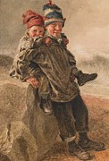 Young Boys Paintings - Young Salts by William Henry Hunt