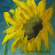 Loose Paintings - Young Sunflower by Kelly Dombrowski