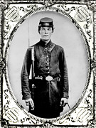 Armed Forces Photos - Young Union Soldier by American School