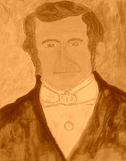 The Church Mixed Media Originals - Young Wilford Woodruff 2 by Richard W Linford
