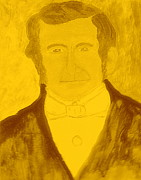 The Church Mixed Media Originals - Young Wilford Woodruff 3 by Richard W Linford