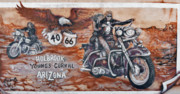 Murals Prints - Youngs Corral in Holbrook AZ on Route 66 - The Mother Road Print by Christine Till