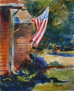 Patriotic Paintings - Your Flag My Flag Our Flag by Duane Barnhart