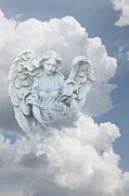 Religious Angel Art Prints - Your Heavenly Angel Print by Linda Phelps
