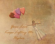Woman Waiting Digital Art - Your Love Keeps Lifting Me Higher by David Dehner