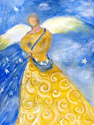 Night Angel Paintings - Your Lucky Stars by Linda Morgan Smith