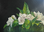 Gardenias Posters - Your mothers gardenias Poster by Susan Richardson
