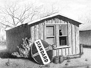 City Posters Drawings - Your Standard Shack by Ken Brown Pioneer