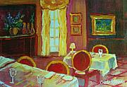 Interior Still Life Paintings - Your Table Awaits by Carole Spandau