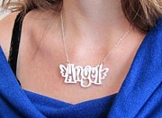 Perspex Necklace Art - Youre My Angel Necklace by Rony Bank