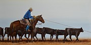 Roping Horse Paintings - Youre Next by Mary Rogers