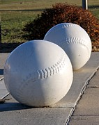 Baseball Fields Art - Youth Baseball Park by Yumi Johnson