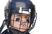 Missing Teeth Prints - Youth Hockey Player Print by Joe Belanger