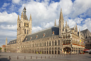 Ypres Framed Prints - Ypres The Cloth Hall Flanders Belgium Europe Framed Print by Jon Boyes