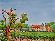 Vin Painting Prints - Yquem Print by MICHAUX Michel