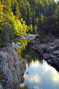 Donna Blackhall Framed Prints - Yuba River Twilight Framed Print by Donna Blackhall