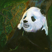 Panda Bear Paintings - Yue Ying by Lynn Rattray