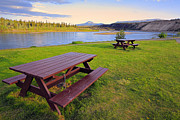 Yukon Framed Prints - Yukon River Framed Print by Charline Xia