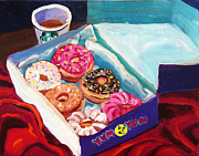 Donuts Painting Prints - Yum Yum Donuts Print by Sean Boyce