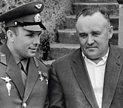 Yuri Gagarin And Sergei Korolev Print by Spl