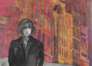 Pinks Tapestries - Textiles Posters - Z and The City 2 Poster by Carolyn Doe