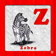 Abc Drawings - Z for Zebra by Jason Meents