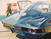 Corvette Paintings - Z O 6 by Robert Hooper