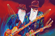 Rock And Roll Painting Originals - Z Z Top 2 by To-Tam Gerwe