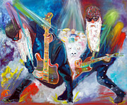 Guitars Paintings - Z Z Top 4 by To-Tam Gerwe