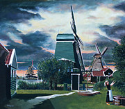 Zaanse Schans Print by Jo King