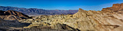 Featured Digital Art Acrylic Prints - Zabriskie Point Panoramic Acrylic Print by Jerry Fornarotto