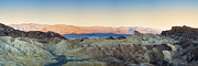 Mountain Valley Framed Prints - Zabriskie Point Panorana Framed Print by Jane Rix