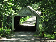 Indiana Photography Prints - Zack Cox Covered Bridge Print by Kathryn Smith