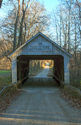 Parke Prints - Zacke Cox Covered Bridge Print by Thomas Sellberg