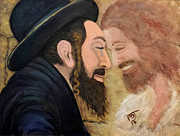 Orthodox Rabbi Framed Prints - Zadok Priesthood Face To FACE Framed Print by Pamorama Jones